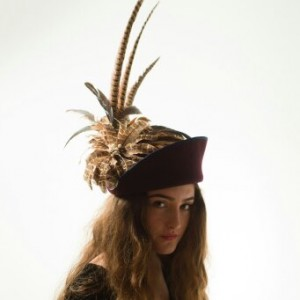 Twisted Thimble 'Spider' wool felt hat
