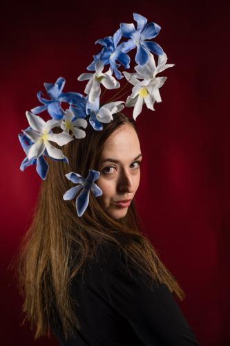 Bloomin Carousel Periwinkle headpiece
