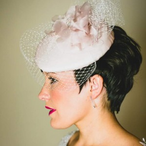 Twisted Thimble 'Cariad' bridal hat