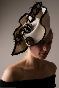 Twisted Thimble 'Scribble' wool felt hat