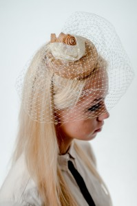 Twisted Thimble 'Vintage Lace' bridal headpiece