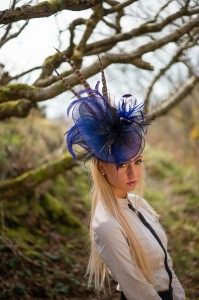 Twisted Ffoslas' Feather' headpiece